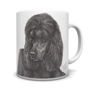 Black Poodle Ceramic Mug by Waggydogz