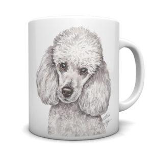 Miniature Poodle Ceramic Mug by Waggydogz