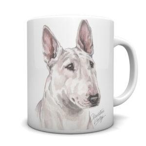 English Bull Terrier Ceramic Mug by Waggydogz