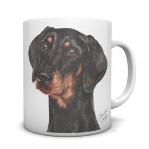 Doberman Ceramic Mug by Waggydogz