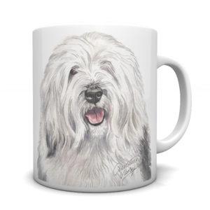 Old English Sheepdog Ceramic Mug by Waggydogz