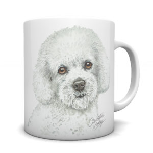 Bichon Frise Ceramic Mug by Waggydogz