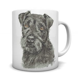 Patterdale Terrier Ceramic Mug by Waggydogz