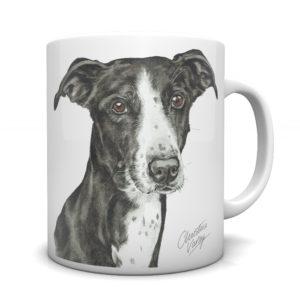 Lurcher Ceramic Mug by Waggydogz