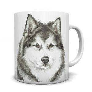 Alaskan Malamute Ceramic Mug by Waggydogz
