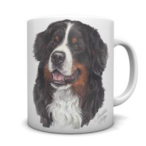 Bernese Mountain Dog Ceramic Mug by Waggydogz