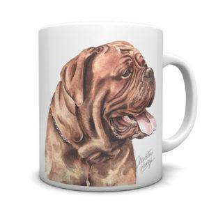 Dogue de Bordeaux Ceramic Mug by Waggydogz