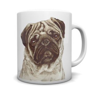 Pug Ceramic Mug by Waggydogz