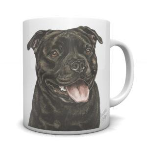Staffordshire Bull Terrier Ceramic Mug by Waggydogz