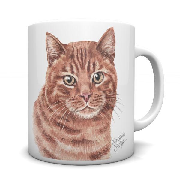 Ginger Cat Ceramic Mug by Waggydogz