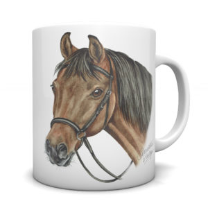 Bay Horse Ceramic Mug by Waggydogz