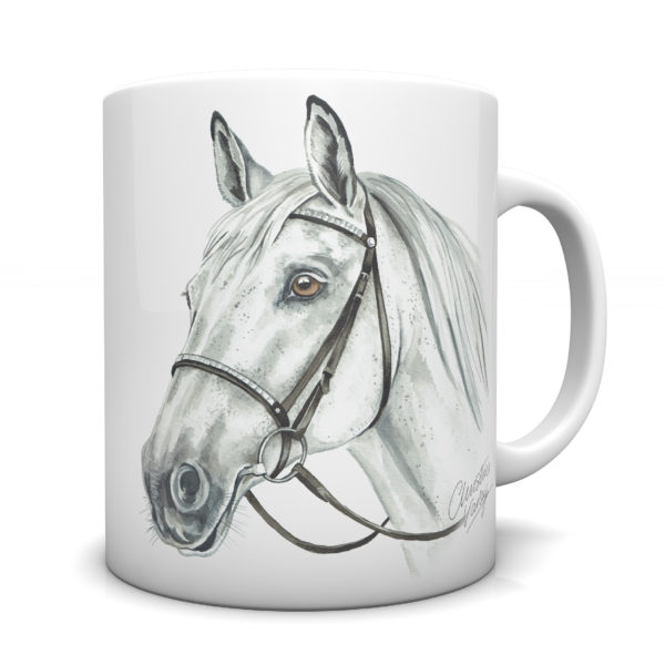 Grey Horse Ceramic Mug by Waggydogz