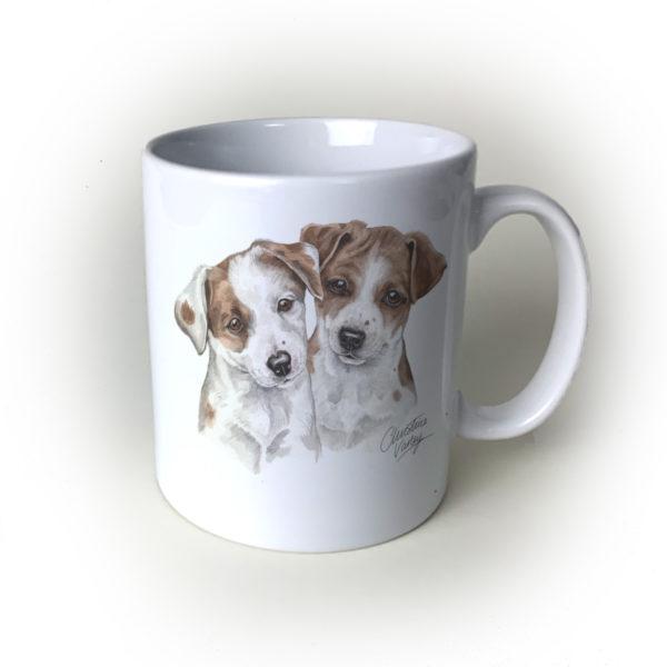 Jack Russells Ceramic Mug by Waggydogz