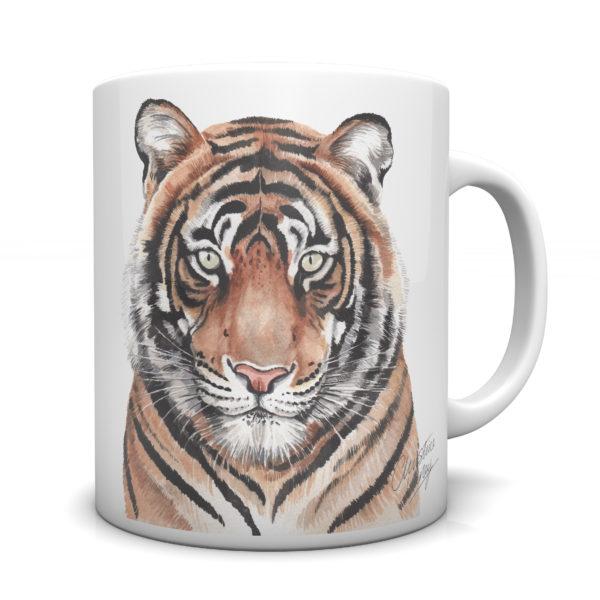 Tiger Ceramic Mug by Waggydogz