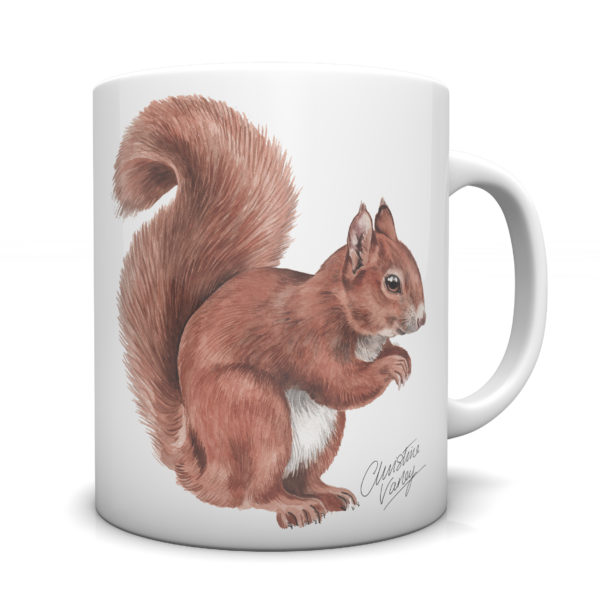 Red Squirrel Ceramic Mug by Waggydogz