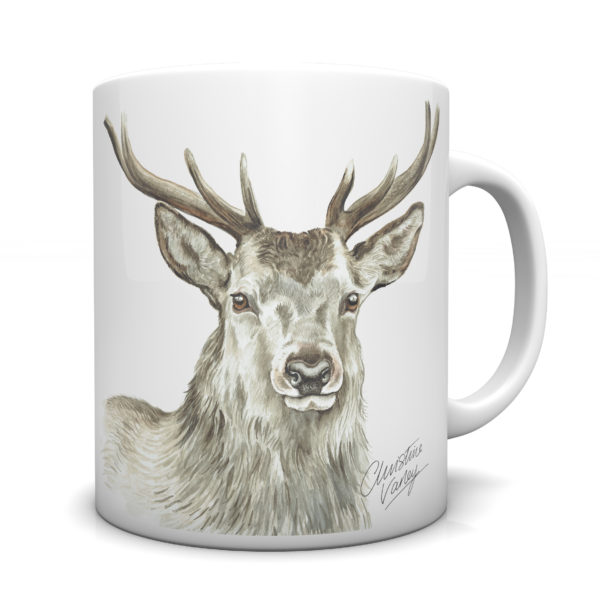 Stag Ceramic Mug by Waggydogz