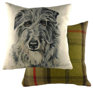 Deer Hound Dog Cushion