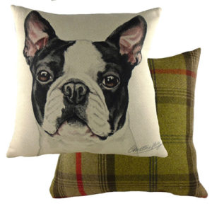 Boston Terrier Dog Cushion