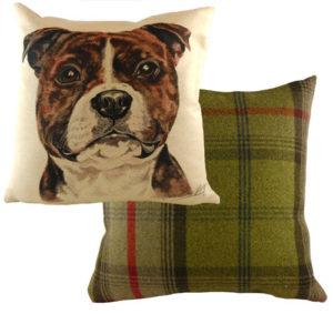 Staffordshire Bull Terrier Dog Cushion