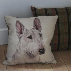 English Bull Terrier Dog Cushion