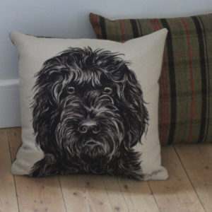 Black Cockapoo Dog Cushion