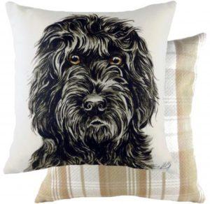 Black Cockapoo Dog Cushion
