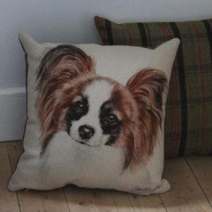 Papillon Dog Cushion
