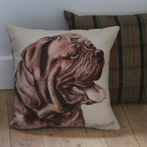 Dogue de Bordeaux Dog Cushion
