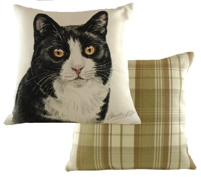 Black & White Cat Cushion