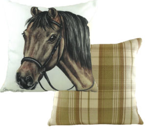 Bay Horse Cushion
