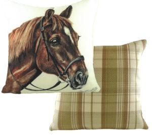 Chestnut Hores Cushion