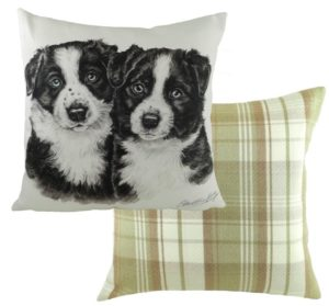 Border Collie Puppies Cushion
