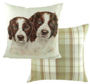 Springer Spaniel Puppies Cushion