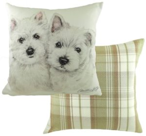 West Highland White Terrier Puppies Cushion