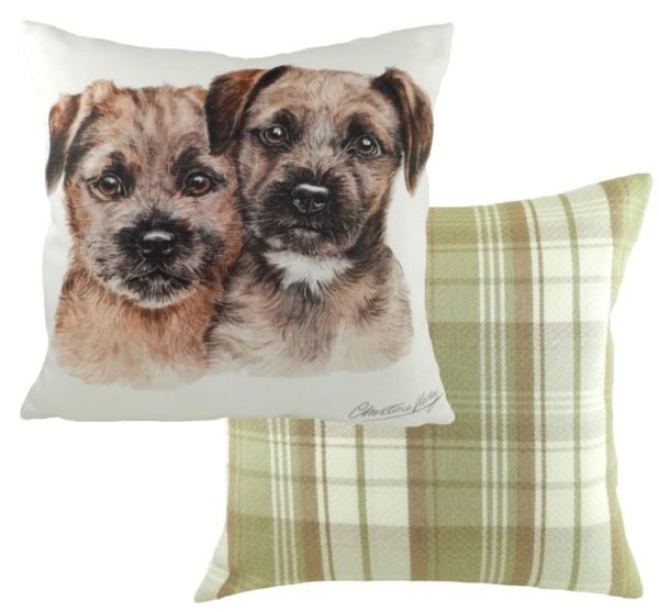 Border Terrier Puppies Cushion