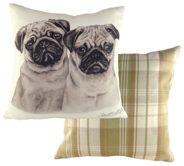 Pug Puppies Cushion
