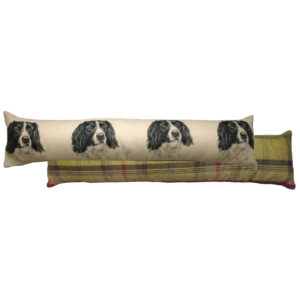 Draught Excluder featuring reproduction of a Springer Spaniel from original watercolour painting by Christine Varley.