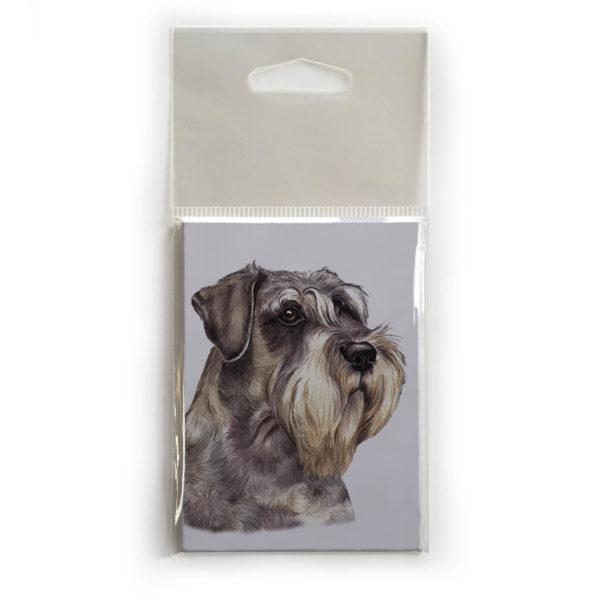 Fridge Magnet Dog Breed Gift featuring Schnauzer