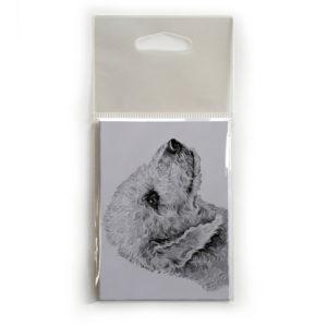Fridge Magnet Dog Breed Gift featuring Bedlington Terrier