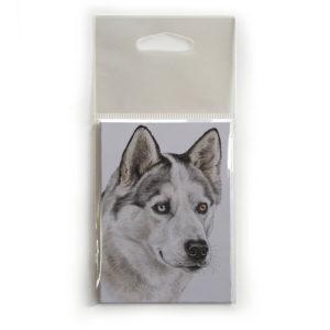 Fridge Magnet Dog Breed Gift featuring Husky