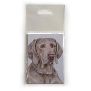 Fridge Magnet Dog Breed Gift featuring Weimaraner