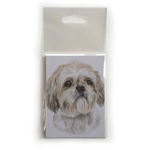 Fridge Magnet Dog Breed Gift featuring Shih Tzu