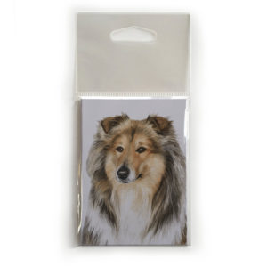 Fridge Magnet Dog Breed Gift featuring Rough Collie