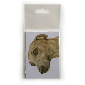 Fridge Magnet Dog Breed Gift featuring Whippet
