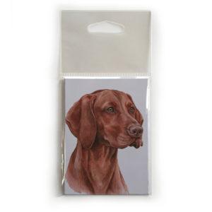 Fridge Magnet Dog Breed Gift featuring Hungarian Vizsla