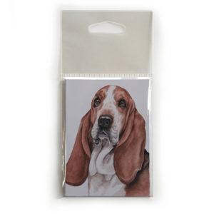 Fridge Magnet Dog Breed Gift featuring Basset Hound
