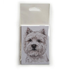 Fridge Magnet Dog Breed Gift featuring West Highland Terrier