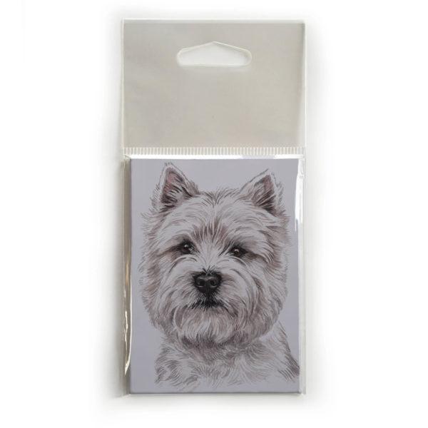 Fridge Magnet Dog Breed Gift featuring West Highland Terrier