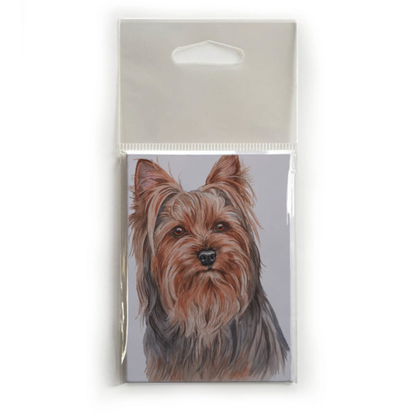 Fridge Magnet Dog Breed Gift featuring Yorkshire Terrier