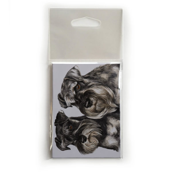 Fridge Magnet Dog Breed Gift featuring Miniature Schnauzer Pair